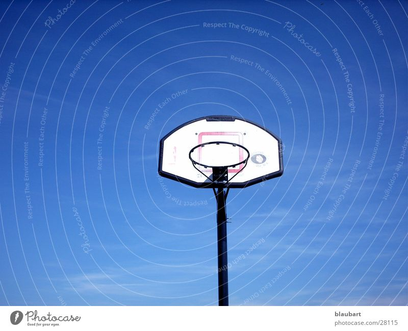 Blue Sports Circle Basket Basketball Basketball basket