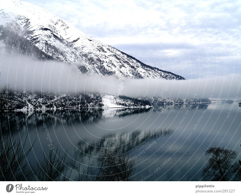 Nature Water Beautiful Calm Winter Landscape Relaxation Environment Far-off places Mountain Life Snow Freedom Lake Style Horizon