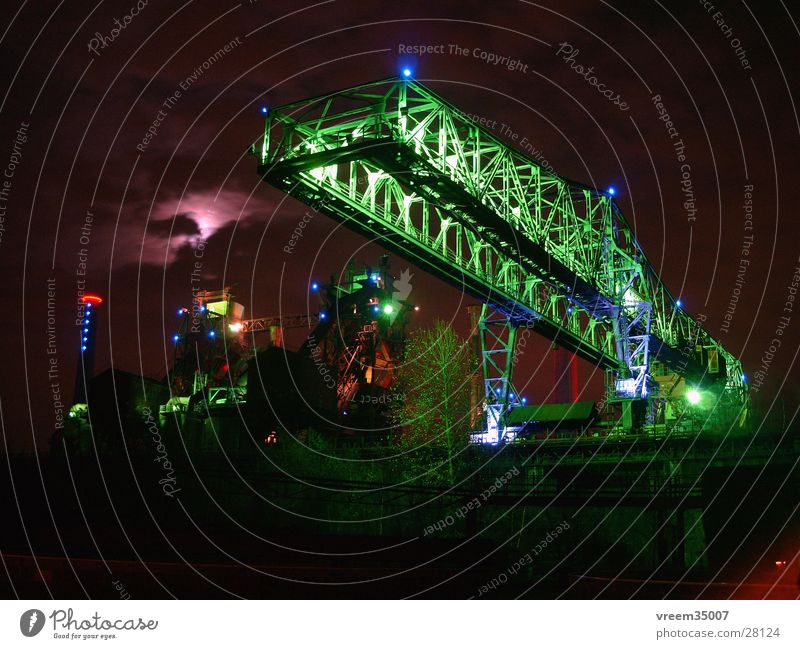 Industrial culture1 Duisburg Night Light Steel factory Coking plant Historic landscape park