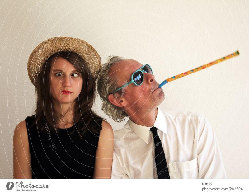 Human being Woman Man Joy Adults Crazy Communicate Culture Shirt Serene Hat Sunglasses Inspiration Tie Resolve Straw hat