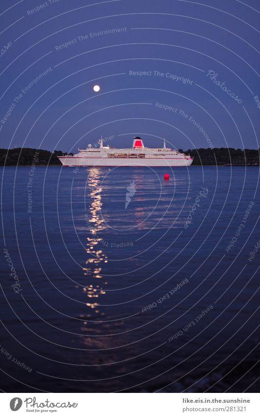 Blue Vacation & Travel Summer Ocean Calm Landscape Coast Swimming & Bathing Waves Trip Lakeside North Sea Baltic Sea Navigation River bank Moon