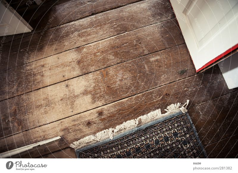 All directions Living or residing Attic Door Wood Old Authentic Simple Dry Brown Floor covering Wood grain Knothole Floorboards Expired Wooden floor