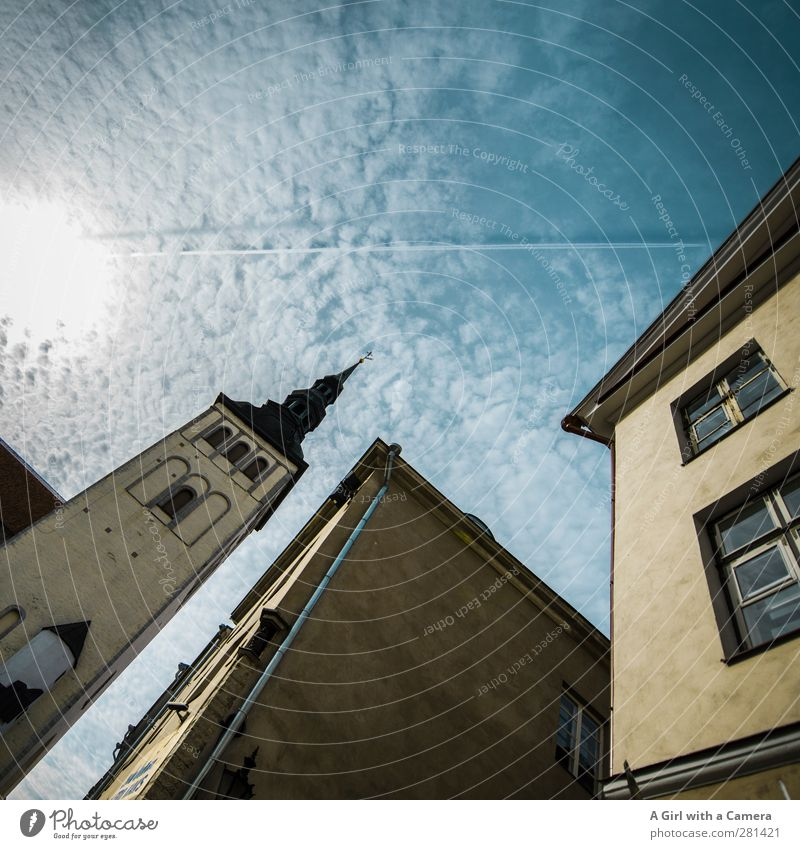 Estonian Clouds Beautiful weather Tallinn Capital city Old town Populated Deserted House (Residential Structure) Church Marketplace Tower Manmade structures