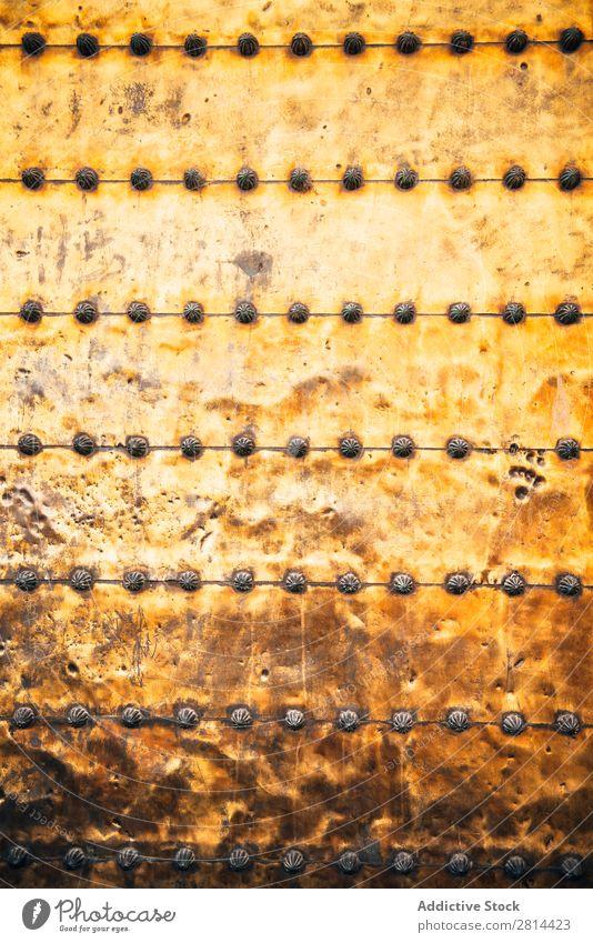 Medieval metal door texture of a mosque door. Background Metal Old Rivet Background picture Steel Iron Door Plate Rust Brown Design Cover Border Brass Weathered