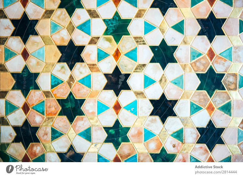 Ornate Vintage Patterned Tiles arabic Design Art Retro Brown Blue Home Background picture Wallpaper Decoration Story Green Floral Ornament Flower Architecture