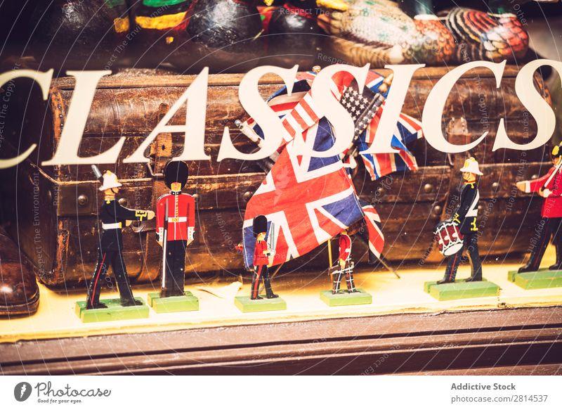 LONDON, UK - OCTOBER 13, 2016: Shop-window of classic toys store Toys Storage Window Shopping Decoration Miniature Gift Street Classic Sell Retro Joy diorama