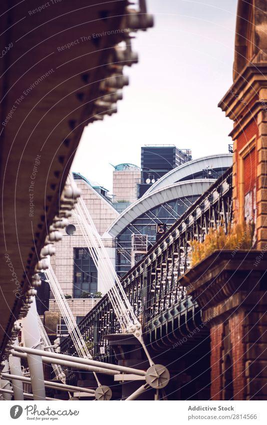 Crop view of bridge in London Bridge Skyline England Architecture Great Britain City Town Landmark Vacation & Travel Building Famous building thames Exterior