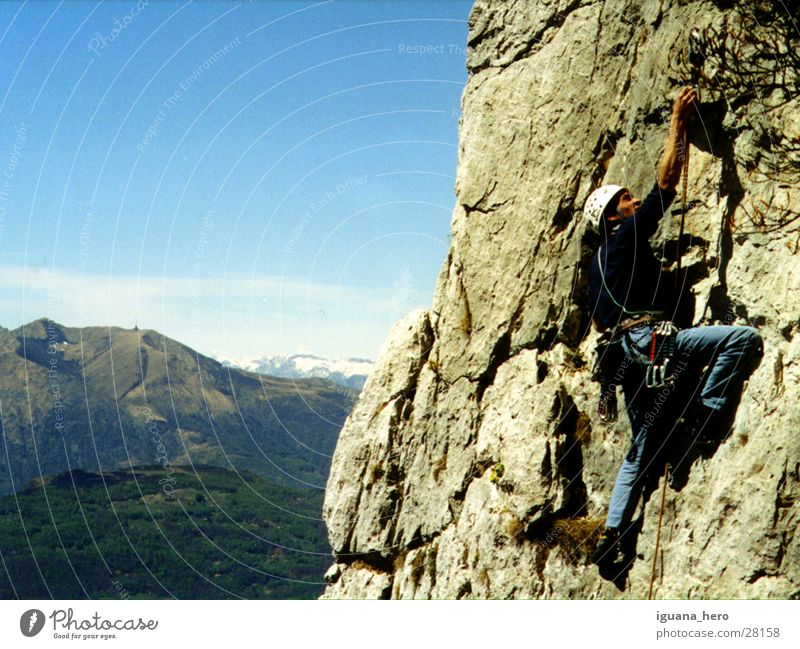 Climbing in Ticino Canton Tessin Switzerland Mountaineering Lead climb Rescue Extreme sports