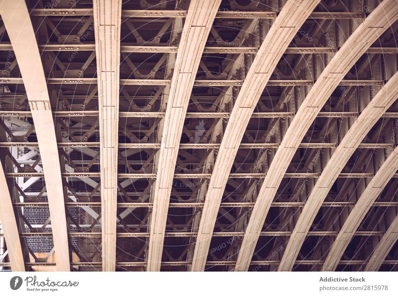 Underside of a bridge Bridge Metal Steel Architecture Structures and shapes Construction Iron Town Exterior shot Transport Building Engineering Overpass Red