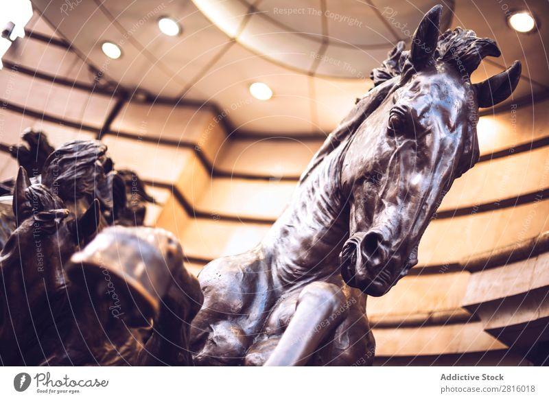LONDON, UK - OCTOBER 15, 2016: Horse statue at Piccadilly circus Statue piccadilly London England Tourism Circus Vacation & Travel British Great Britain English