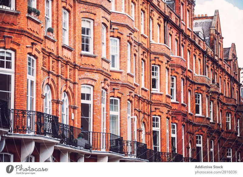 Brick buildings House (Residential Structure) Window London Architecture front Building Red Flat Wall (building) City Town Exterior shot Deserted Great Britain