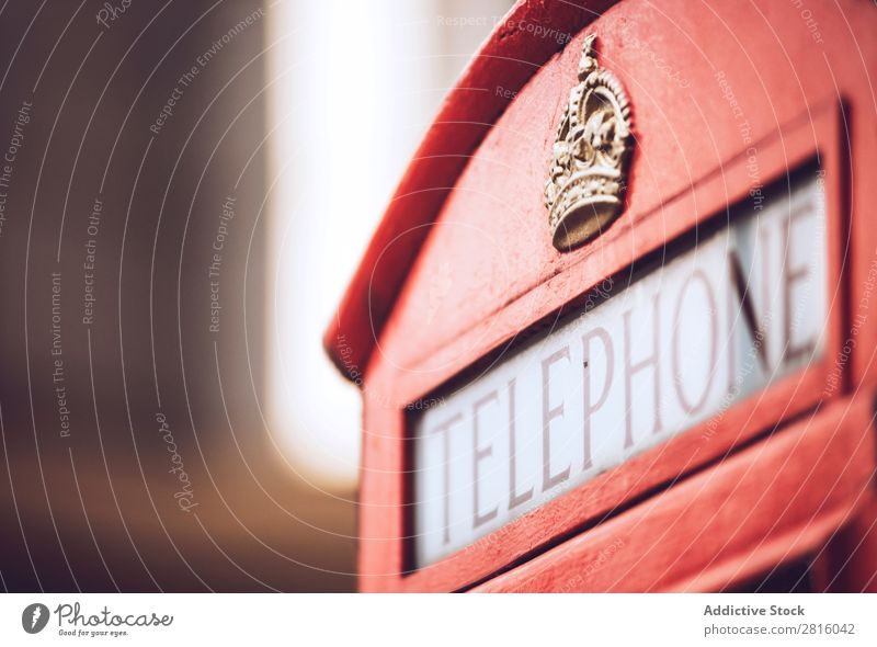 London phone booth Red Telephone Vacation & Travel Tourism Town Exterior shot Deserted Great Britain England Famous building Vientiane Culture Historic British