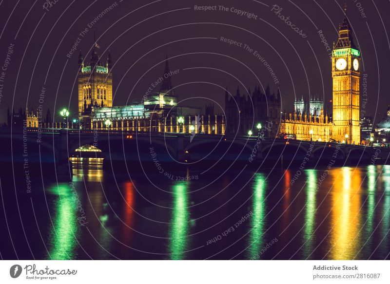 Conceptual shot of an Elizabeth's tower in London with long expo Big Ben Long exposure Night Mountain big Exposure Parliament Clock England Great Britain Tower