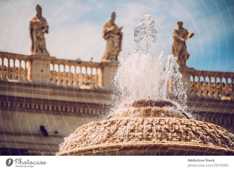 Detail of fountain on the Saint Peter Square (Piazza San Pietro), in Vatican, Rome, Italy. Places Italian Cathedral gian Bowl Vacation & Travel Vantage point