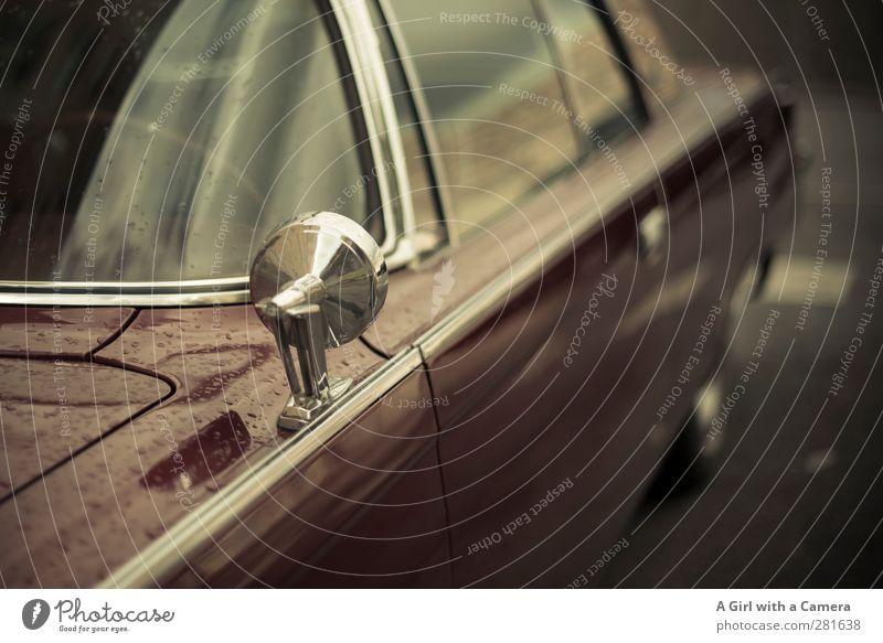 let's speed off into the sun Transport Means of transport Motoring Street Car Old Vintage car Polished Subdued colour Exterior shot Detail Deserted