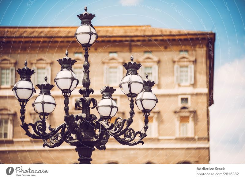 Street Lamp on the St. Peter's Square, Vatican, Rome, Italy Architecture Art Basilica bishop Blue cardinal Cathedral Catholicism christ Christianity Church City