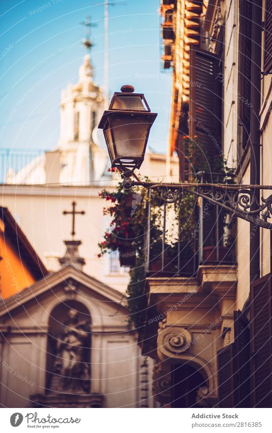 Street detail in Rome, Italy Close-up Old Vintage Detail European Exterior shot Ancient Italian Destination Vacation & Travel Vantage point Town Landmark