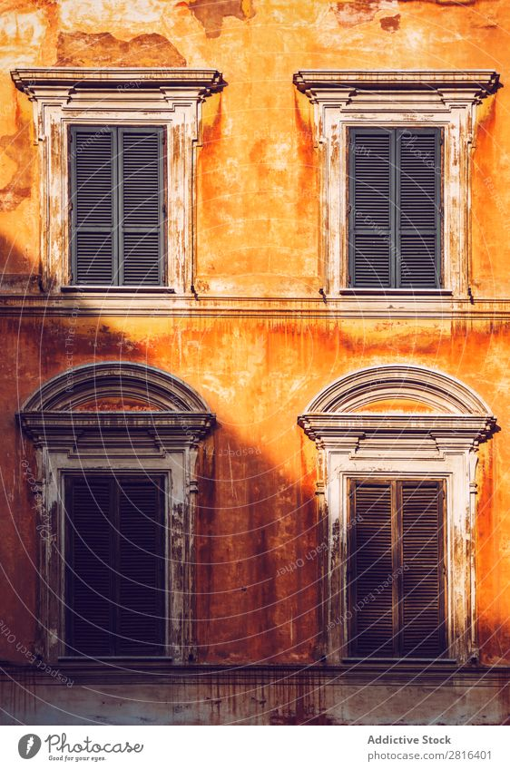 Typical Italian building, Rome, Italy: Texture background Hotel Downtown Many Lazio Lamp Row Red Flower European Yellow Town Line Landmark Architecture Historic