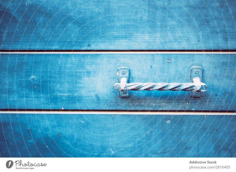 Detail of doors made of wood painted blue. Texture background Door Wood Mediterranean Painting (action, artwork) Blue Greek Pattern Metal Knocker Exterior shot