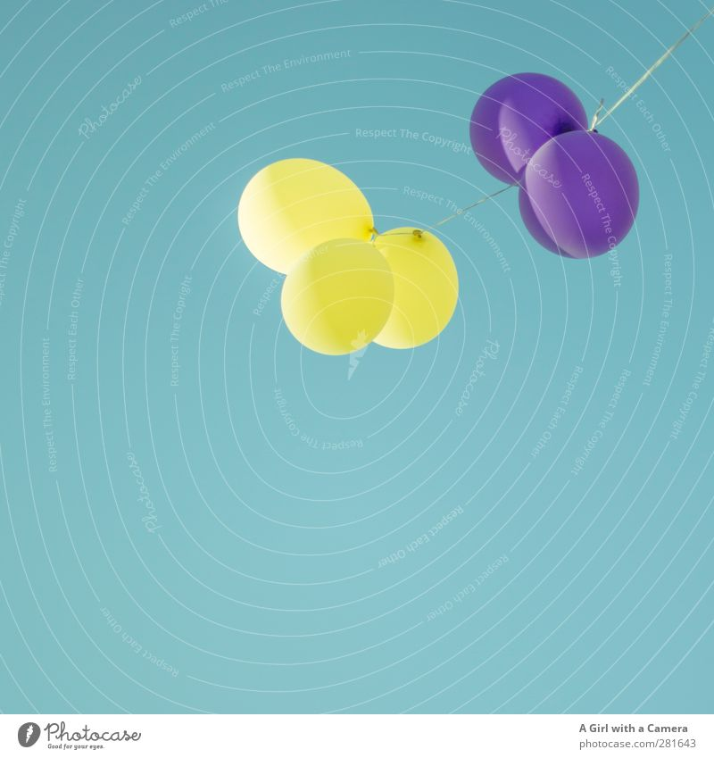 Sky Summer Yellow Tall Beautiful weather Balloon Violet Hover Cloudless sky