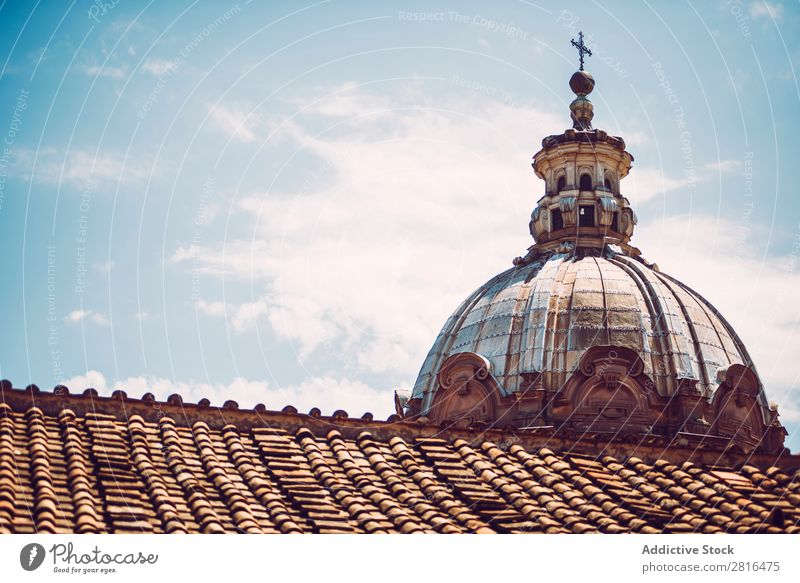 Detail of a church in Rome, Italy Street Close-up Old Vintage European Exterior shot Ancient Italian Destination Vacation & Travel Vantage point Town Landmark