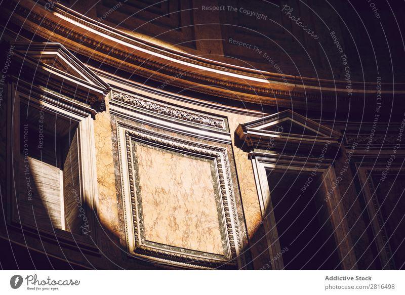 Interior of Rome Agrippa Pantheon, Italy Light Dome Landmark Roof Interior design Detail