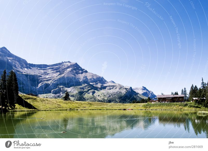 Lac Retaud Contentment Relaxation Calm Tourism Trip Freedom Summer Mountain Hiking Nature Landscape Elements Air Water Cloudless sky Beautiful weather Rock Alps