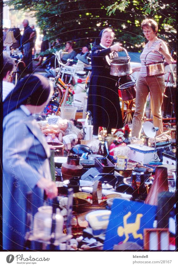 Black Group Markets Clergyman Münster Penguin Catholicism Religion and faith Christianity Flea market Nun