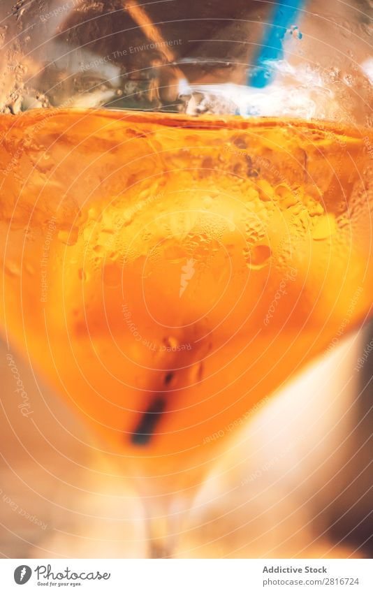 Orange color drinking and ice in the glass cup Top Vantage point Glass Water Cup Drinking Ice soda Wood Food Close-up Solid Cold Meal Table Liquid Order Thirsty