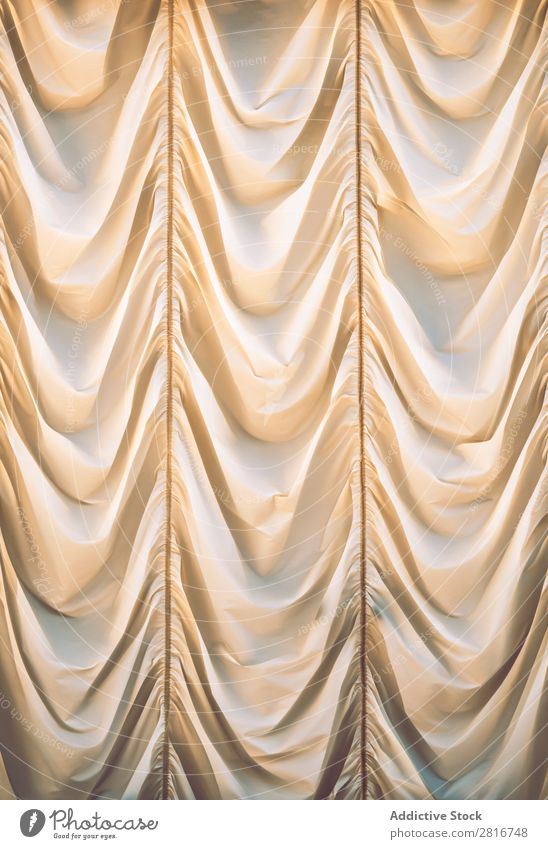 Beautiful beige curtain Curtain White Background picture draped Cloth Silk Window Wave Decoration Surface satiny Classical Yellow bridal Curve drapery Luxury