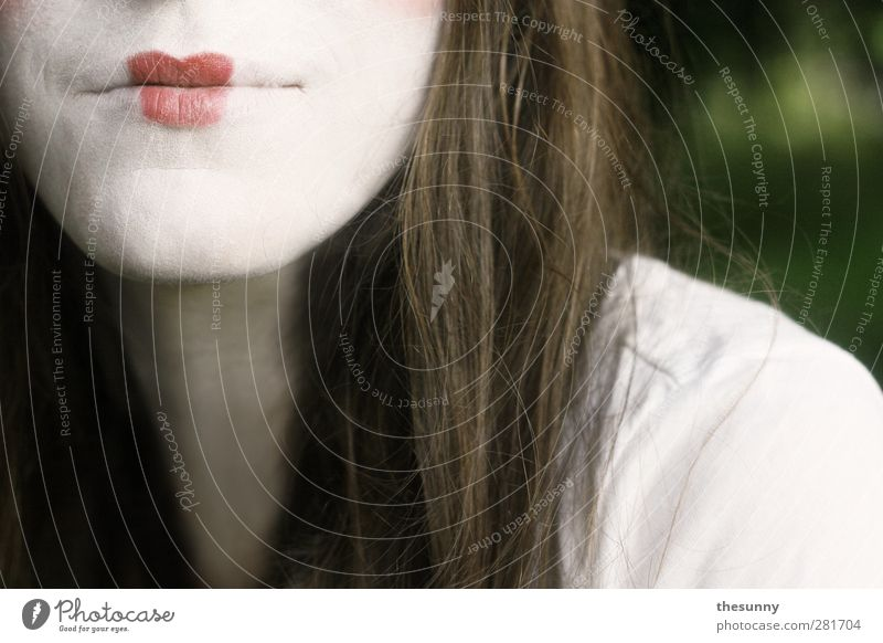 kiss my mouth Mouth Lips Chin Hide Hair and hairstyles Red Brown Green Kissing Lipstick 1 Human being Fresh Beautiful Kitsch Cute Positive Moody Infatuation