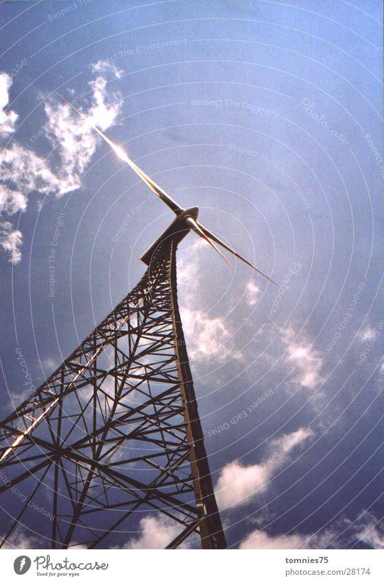 "Wind Power Plant ""Ewiger Fuhrmann"" Wind energy plant Electrical equipment Technology light reflex lattice tower Eternal Carter"