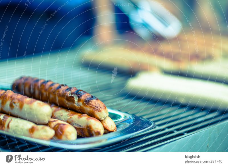 Green Summer Party Eating Brown Food Delicious Barbecue (event) Barbecue (apparatus) Sausage