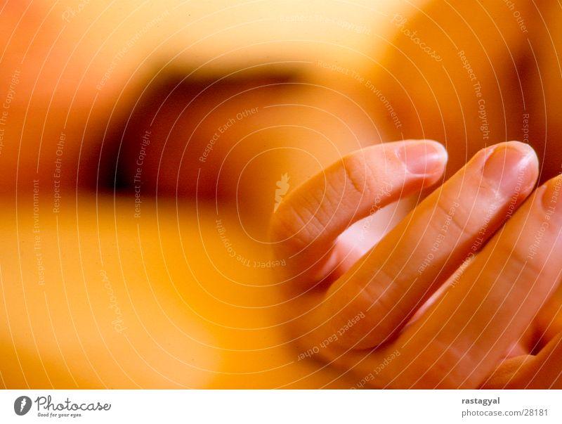 hand Men`s hand Oversleep Hand Bed Fingers Physics Blur Sleep Fingernail Sunday Morning Man Orange Warmth Room
