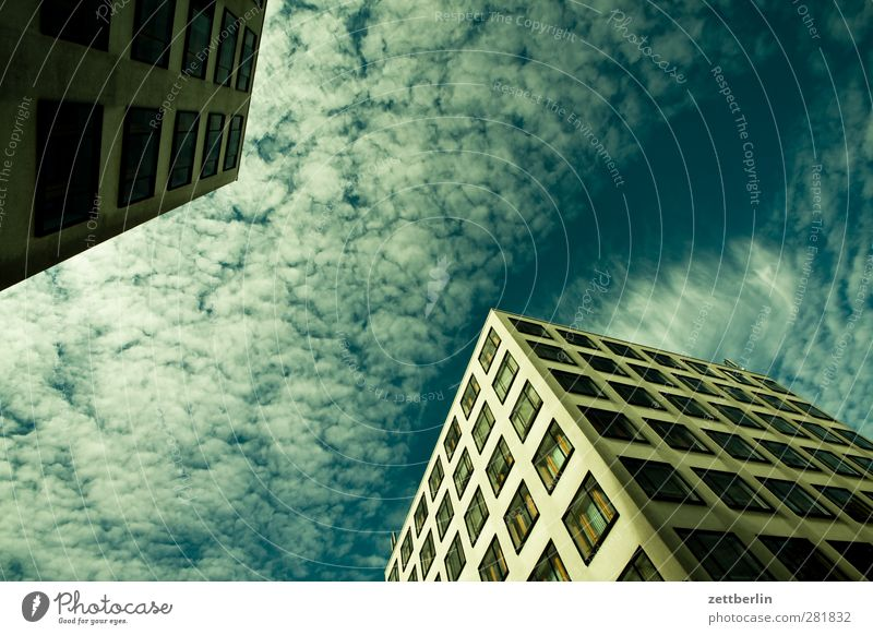 Sky City Beautiful Clouds House (Residential Structure) Window Wall (building) Architecture Wall (barrier) Building Facade Modern Corner Good Manmade structures