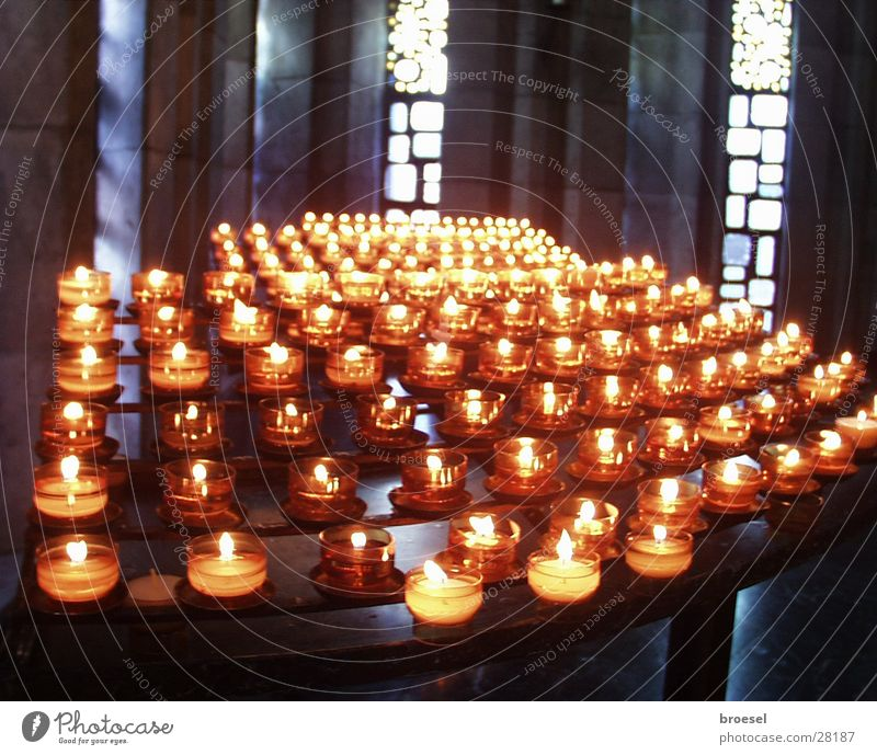 Candles in church Light Thank you very much Desire Religion and faith Prayer Things Virgin Mary Mother of God