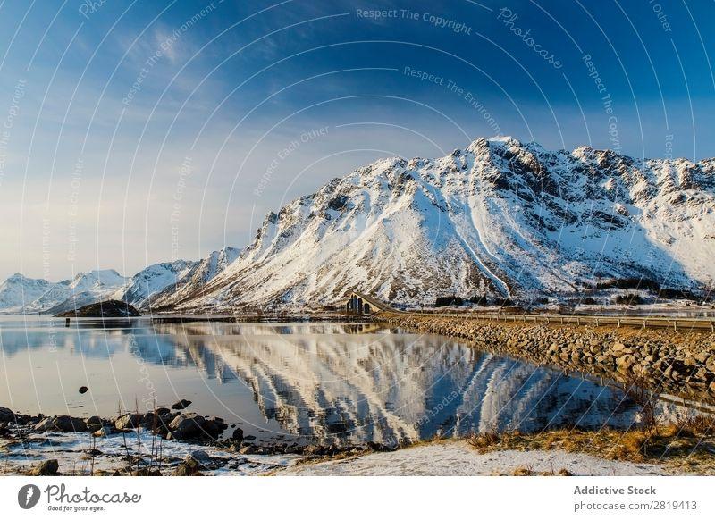 Eva Ozkoidi_Breathtaking view of the lofoen,Norway Fjord Lake Ice Street Coast Rock Ocean