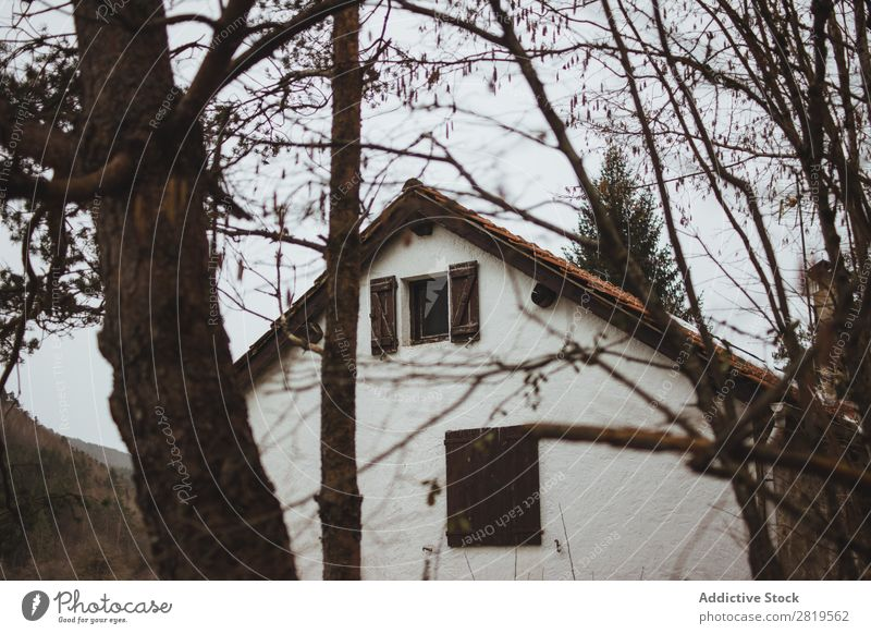 Small house in winter nature House (Residential Structure) Nature Home Architecture Building Natural Property Landscape Beautiful estate Environment