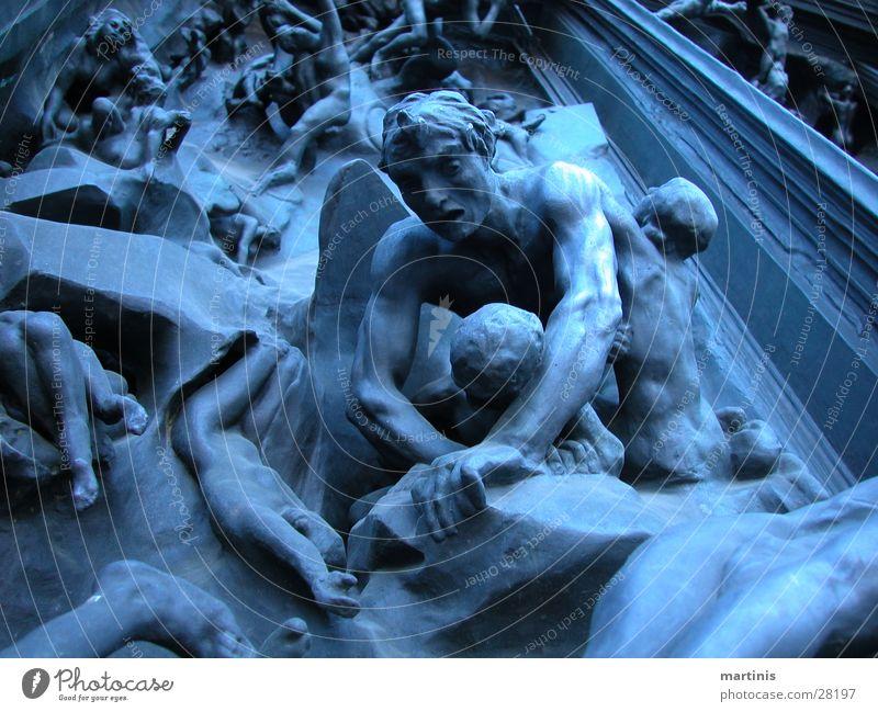 """""""Hell Gate"""" Zurich Art Sculpture Craft (trade) Blue Sadness"""