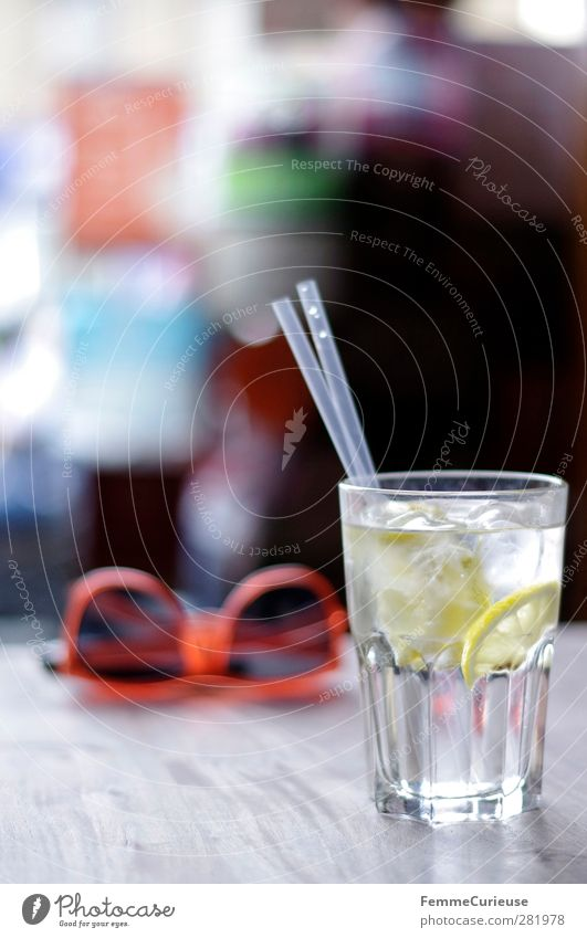 400 photos. Santé! :-) Beverage Drinking Cold drink Drinking water Alcoholic drinks Joie de vivre (Vitality) Ease Lemon Lemon juice Slice of lemon Straw Water