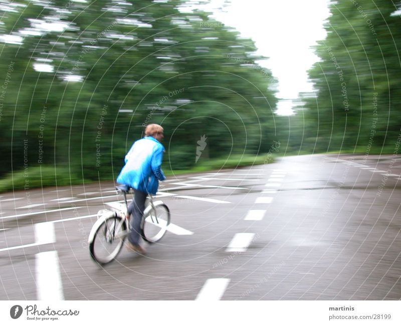 bicycle action Bicycle Speed Driving Man Street Blur