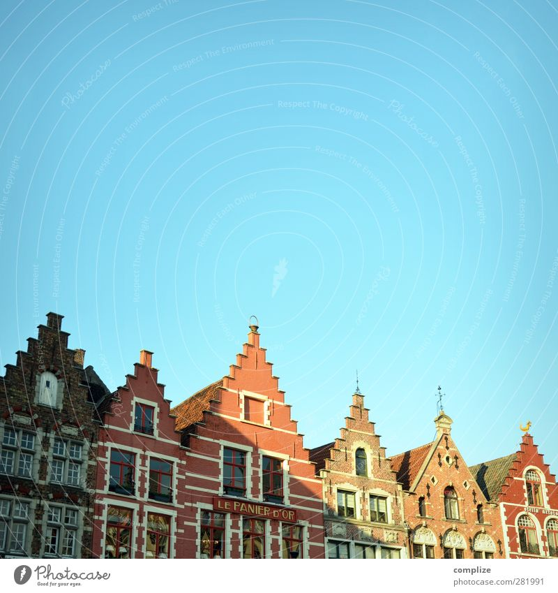 Vacation & Travel City House (Residential Structure) Dream Facade Roof Historic Sightseeing Old town Marketplace Old building Gable Skylight Medieval times Belgium Europe