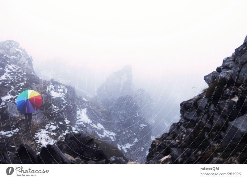 Colour Mountain Cold Dye Art Exceptional Fog Esthetic Alps Uniqueness Creativity Idea Fantastic Umbrella Snowcapped peak Bavaria