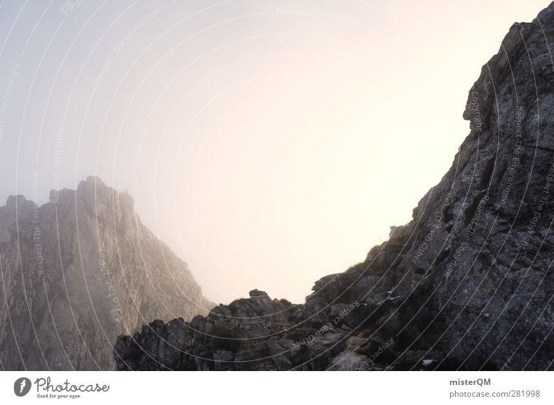 Mordor. Art Esthetic Mountain Mountaineering Slope Mountain range Mountain ridge Hilltop Alps Pre-alpes Snowcapped peak Peak Fog Shroud of fog Sea of fog