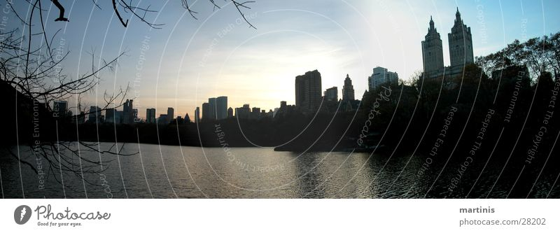 central park Panorama (View) Park Sunset High-rise Lake North America Central Park Large Panorama (Format)