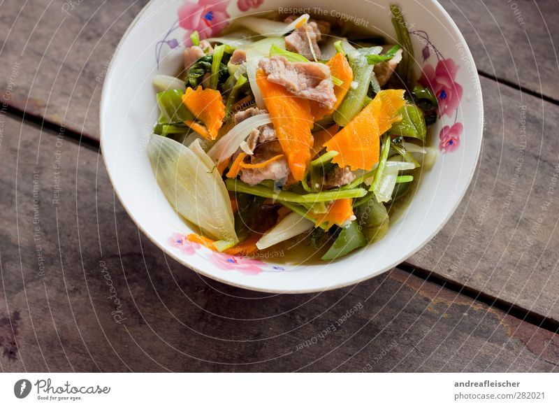 cambodian food. the second. Food Meat Vegetable Nutrition Lunch Bowl Warmth Carrot Leek vegetable Onion Water spinach Flowery pattern Sauce Foliage plant