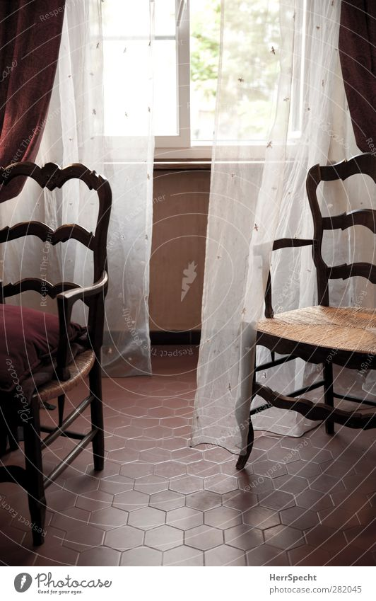 Old White Red House (Residential Structure) Window Wall (building) Wall (barrier) Interior design Brown Open Room Flat (apartment) Retro Chair Tile Furniture