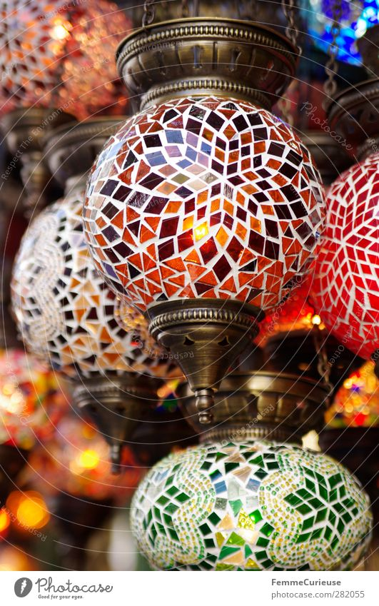 Mosaic lamps. Energy industry Uniqueness Round Lamp Souvenir Souvenir shop Brass Illuminating Illuminate Electricity Multicoloured Stone Pattern
