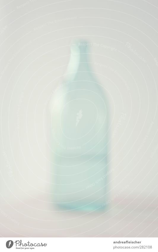 water bottle. Water Esthetic Blur Bottle Drinking water Bottle of water Light Smooth Wall (building) Reflection visually impaired Green Soft Colour photo