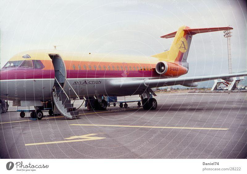 Airplane Aviation Airport Nostalgia Seventies Gangway Runway